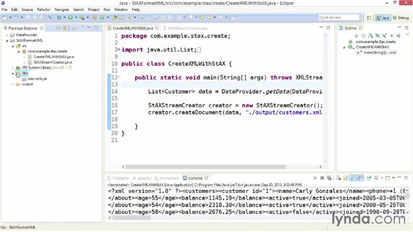 Formatting documents with StAX utility classes: XML Integration with Java