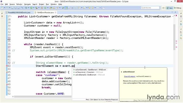 Parsing an XML file with XMLEventReader: XML Integration with Java