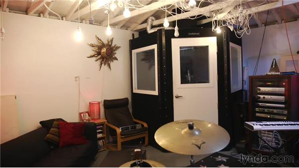 Treating the floor and ceiling: Music Studio Setup and Acoustics