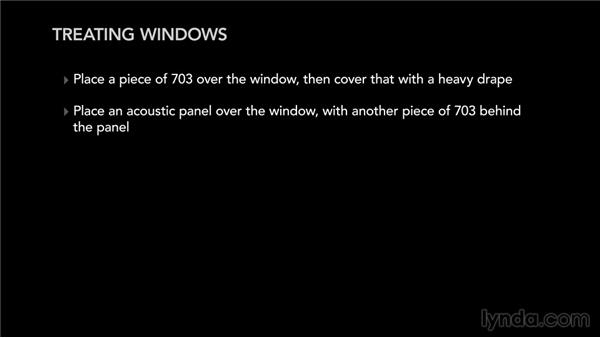 Treating the windows: Music Studio Setup and Acoustics