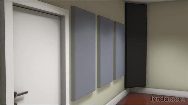 Treating the front and rear walls: Music Studio Setup and Acoustics
