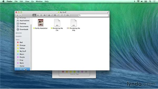 Get organized with Finder tags: Mac OS X Mavericks New Features
