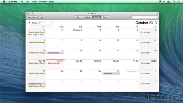 Calendar's new look and features: Mac OS X Mavericks New Features