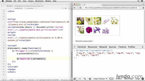 Making items sortable: jQuery UI Widgets