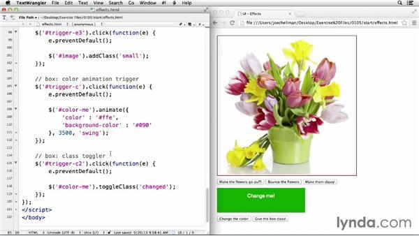 Animated behaviors: jQuery UI Widgets