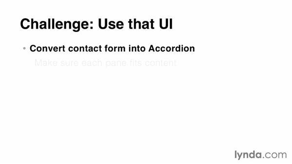 Challenge: Upgrade the contact form: jQuery UI Widgets