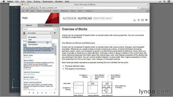 Exploring the online help interface: AutoCAD for Mac 2014 New Features