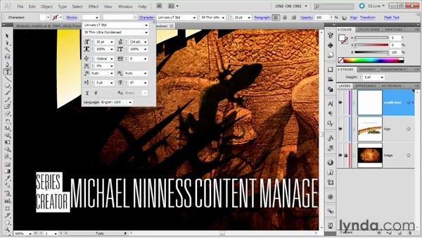 099 Creating movie poster credits: Deke's Techniques