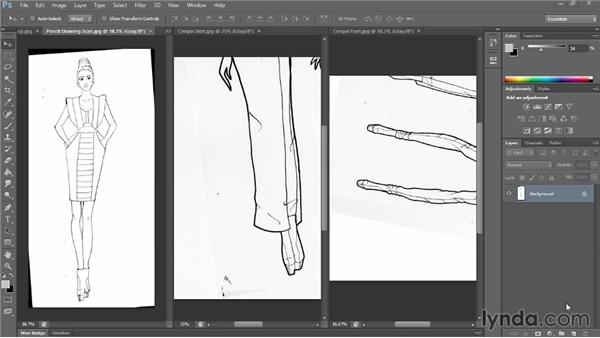 Scanning your artwork: Photoshop for Fashion Design: Rendering Techniques