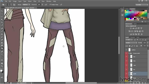 Shading with Dodge and Burn: Photoshop for Fashion Design: Rendering Techniques