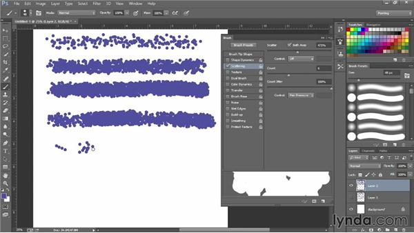 How to make a scatter brush: Photoshop for Fashion Design: Rendering Techniques