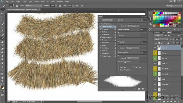 Making boa and fur brushes: Photoshop for Fashion Design: Rendering Techniques