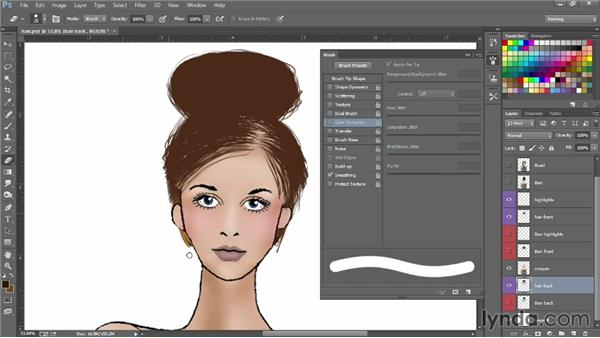 How to make a brush to paint hair: Photoshop for Fashion Design: Rendering Techniques