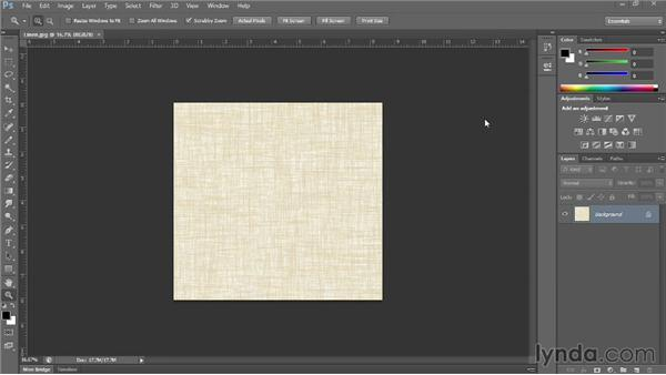 Making a pattern with a scanned fabric swatch: Photoshop for Fashion Design: Rendering Techniques