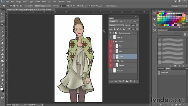 Filling and scaling with patterns: Photoshop for Fashion Design: Rendering Techniques