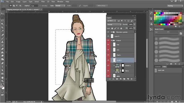 Creating clipping masks: Photoshop for Fashion Design: Rendering Techniques
