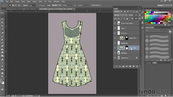 Warping patterns with Warp: Photoshop for Fashion Design: Rendering Techniques