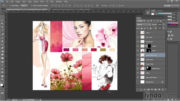 Creating inspiration boards: Photoshop for Fashion Design: Rendering Techniques