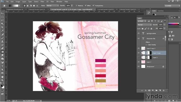 Making concept boards: Photoshop for Fashion Design: Rendering Techniques