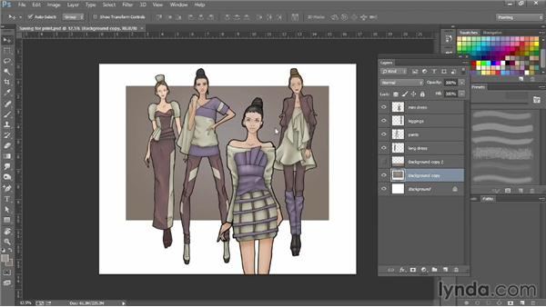 Saving for print: Photoshop for Fashion Design: Rendering Techniques