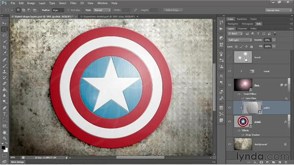 140 Creating a photorealistic superhero shield: Deke's Techniques