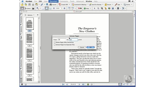 extracting pages: Acrobat 7 Essential Training