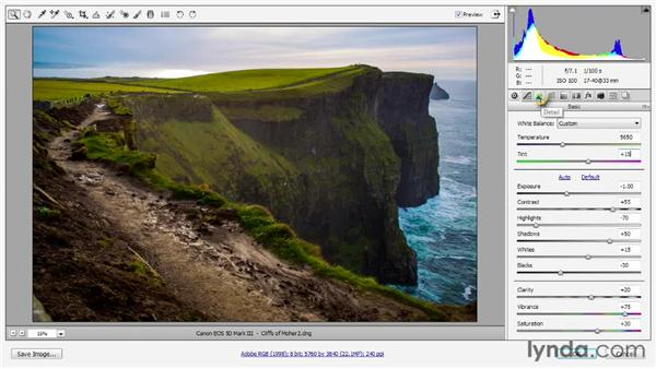 184 Enhancing a landscape photo in Camera Raw 7: Deke's Techniques