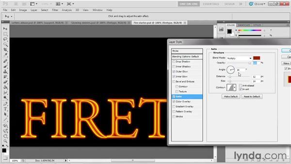 008 Creating a molten letter effect: Deke's Techniques
