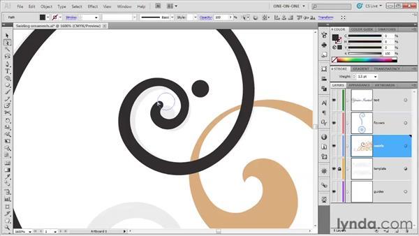 057 Drawing trendy swirls in Illustrator: Deke's Techniques