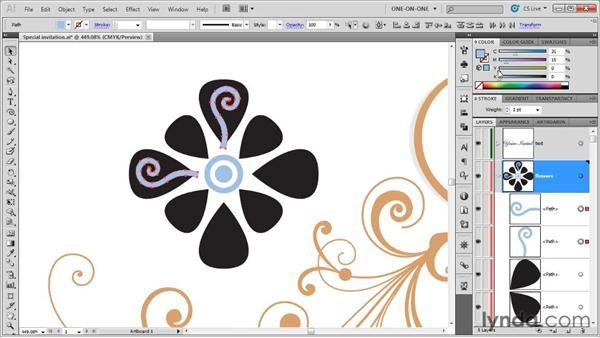 059 Drawing trendy ornaments in Illustrator: Deke's Techniques