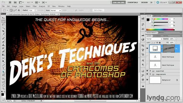 086 Designing an Indiana Jones-style logo: Deke's Techniques