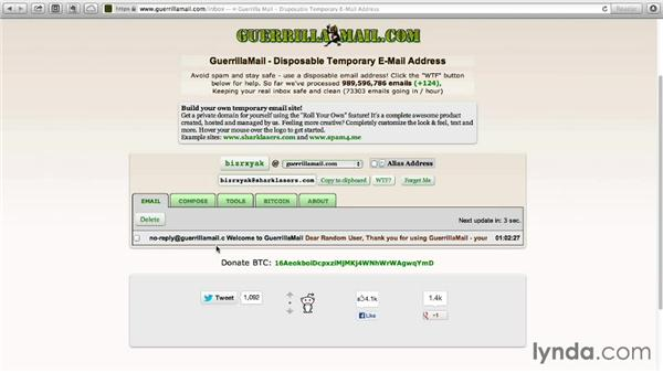 Creating a disposable email address with Guerrilla mail: Monday Productivity Pointers
