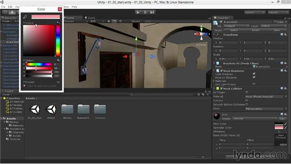Bringing out the shine with a specular material: Materials and Lighting in Unity