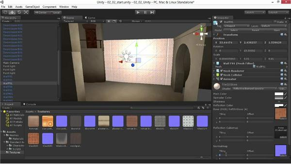Creating and editing a reflective material: Materials and Lighting in Unity