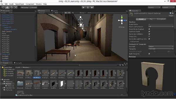 Readying objects for light baking: Materials and Lighting in Unity