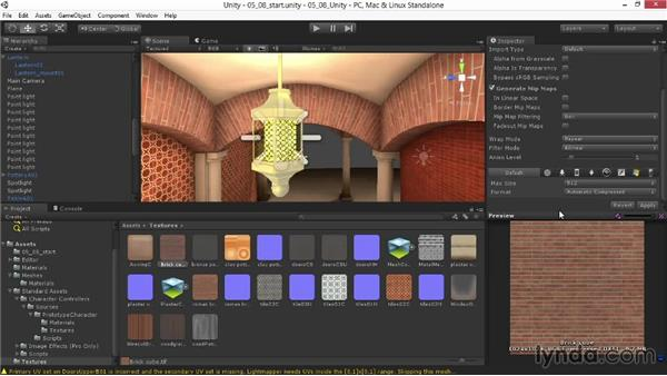 Solution: Creating refliective bronze for the lantern: Materials and Lighting in Unity
