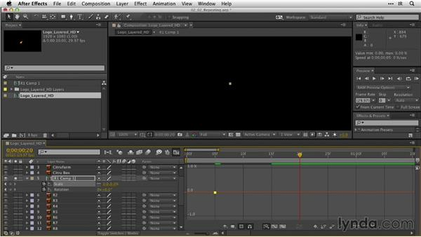 Repeating animation with the Keyframe Assistant: After Effects Guru: Animating Logos