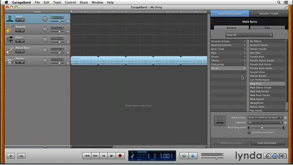 What's been moved to a new location in the interface?: GarageBand for Mac New Features