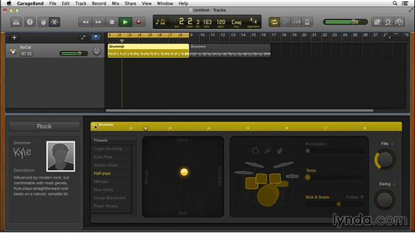 Using Drummer in GarageBand to create drum tracks in a whole new way: GarageBand for Mac New Features
