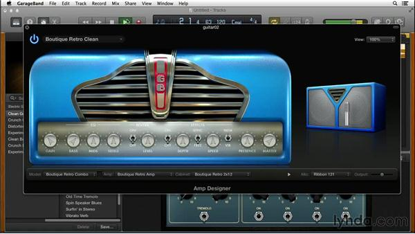 Designing your guitar amp: GarageBand for Mac New Features