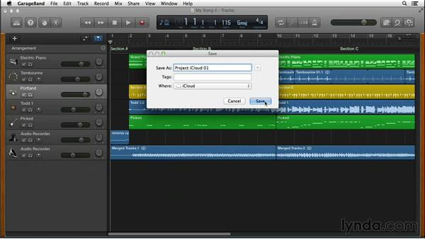 Using iCloud to access your projects from any Mac: GarageBand for Mac New Features