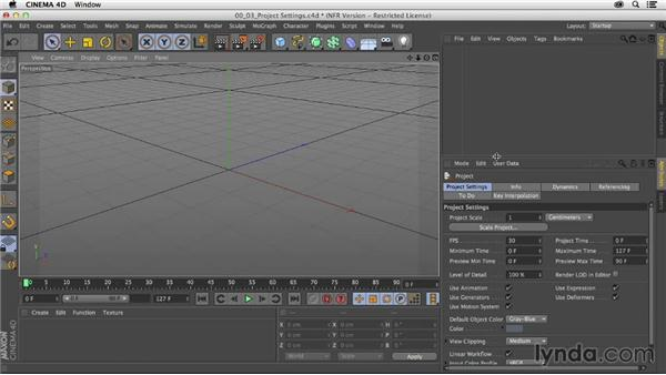 Setting up the project in CINEMA 4D: Mograph Techniques: Modeling and Animating with C4D Cloners