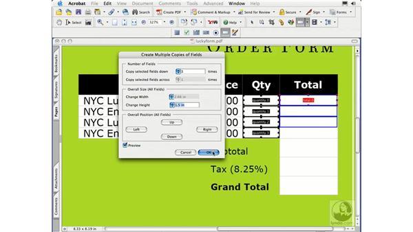 preparing for field calculations: Acrobat 7 Essential Training