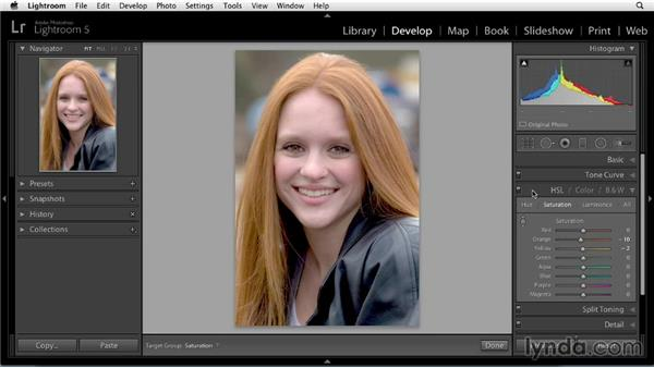 Adjusting color: Enhancing a Portrait of a Young Woman in Lightroom