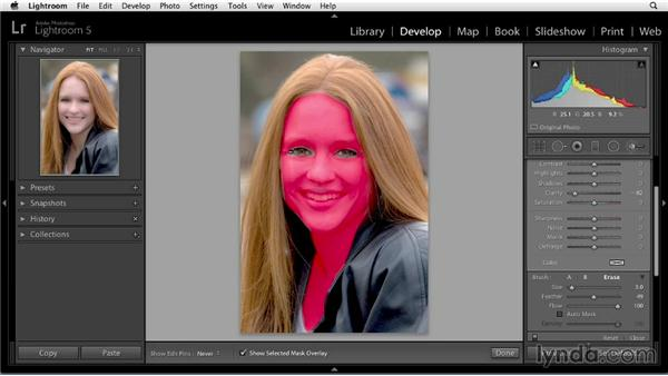 Softening skin: Enhancing a Portrait of a Young Woman in Lightroom