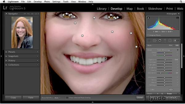 Whitening teeth: Enhancing a Portrait of a Young Woman in Lightroom