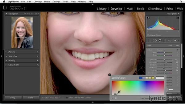 Improving lips: Enhancing a Portrait of a Young Woman in Lightroom