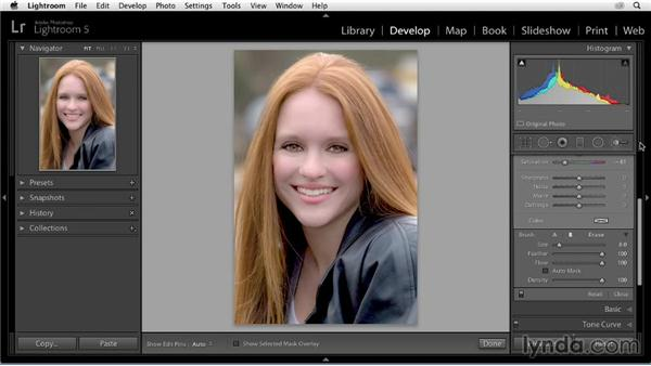 Fine-tuning the background: Enhancing a Portrait of a Young Woman in Lightroom