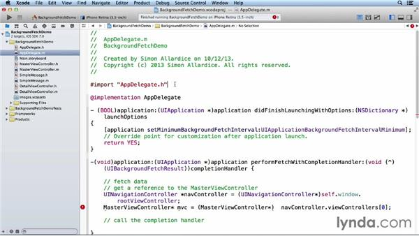 Adding background fetch support: iOS 7 SDK New Features