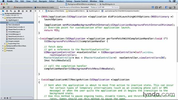 Refining background fetch code: iOS 7 SDK New Features